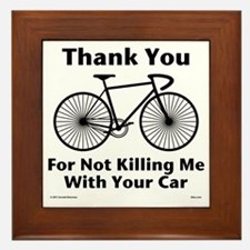 Thank You - Bicycle Framed Tile