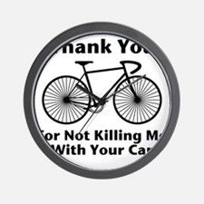 Thank You - Bicycle Wall Clock