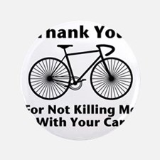 """Thank You - Bicycle 3.5"""" Button"""