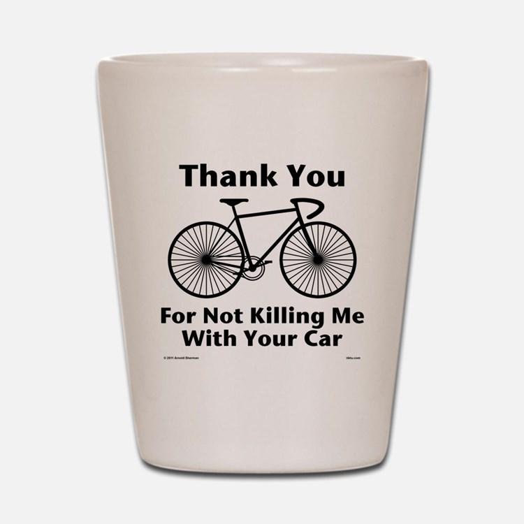 Thank You - Bicycle Shot Glass
