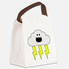 thunderandlightningwhite Canvas Lunch Bag