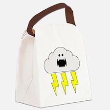 thunderandlightningwhite Canvas Lunch Bag