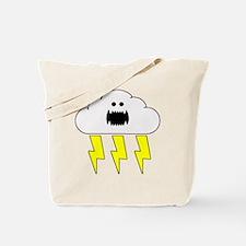 thunderandlightningwhite Tote Bag