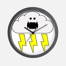 thunderandlightningwhite Wall Clock