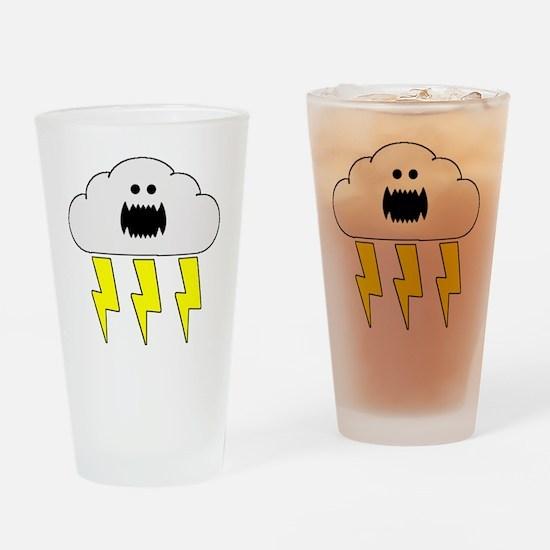 thunderandlightningwhite Drinking Glass