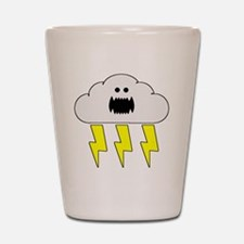 thunderandlightningwhite Shot Glass