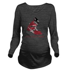 freeyour_heel_10x10_ Long Sleeve Maternity T-Shirt