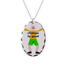 pman2 Necklace Oval Charm