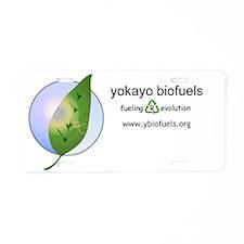 horizontal logo Aluminum License Plate