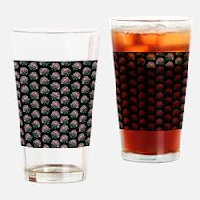 Artichoke Pattern on Black. Drinking Glass