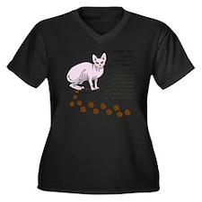 footprints-s Women's Plus Size Dark V-Neck T-Shirt