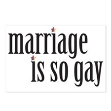 004 Marriage is so gay1 Postcards (Package of 8)
