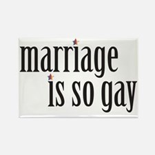 004 Marriage is so gay1 Rectangle Magnet