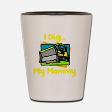 Dig Mommy Yellow Shot Glass