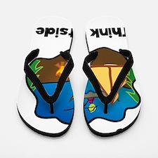 Think Outside Black Flip Flops