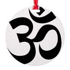 Yoga Om Black Ornament