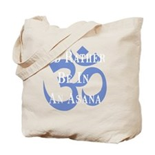 Rather Be Asana White Tote Bag