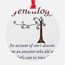GENEALOGYanacount2 Ornament