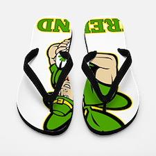 Irish leprechaun rugby player Ireland Flip Flops