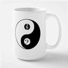 Yin Yang W/Bass And Treble Music Clefs Mug