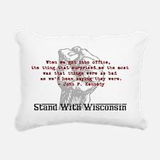 JFK-quote Rectangular Canvas Pillow