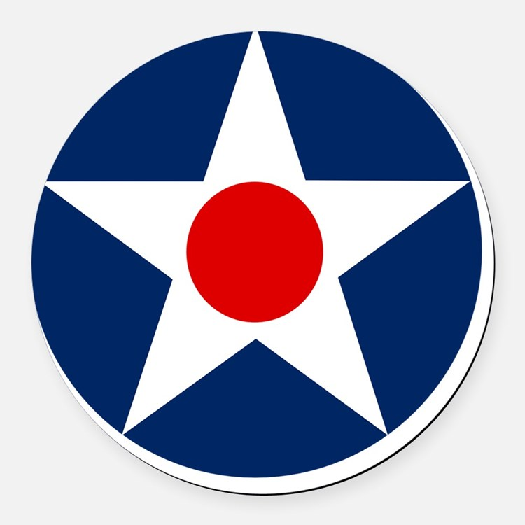United States Army Air Corp Round Round Car Magnet