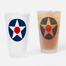 United States Army Air Corp Roundel Drinking Glass