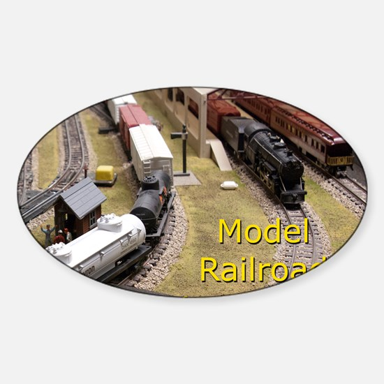 Cal3_COVER_Model_Trains_0100 Sticker (Oval)