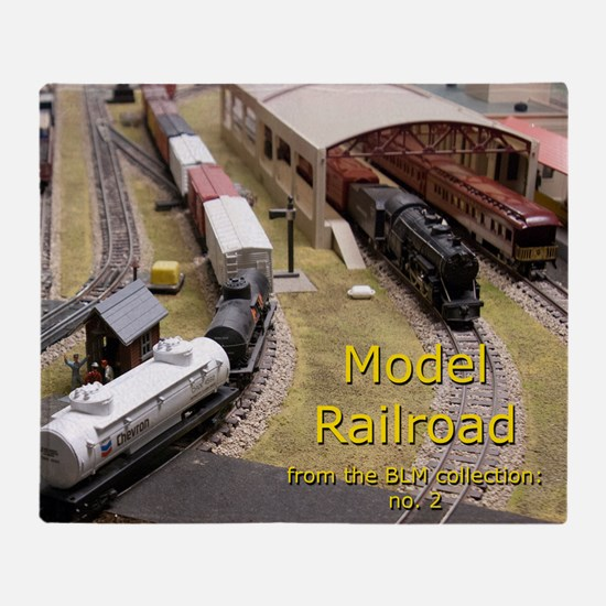 Cal3_COVER_Model_Trains_0100 Throw Blanket