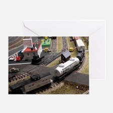 Cal3_Jan_Model_Trains_0100 Greeting Card