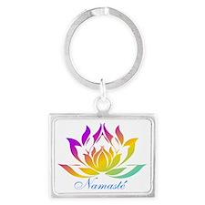 Namaste.gif Landscape Keychain