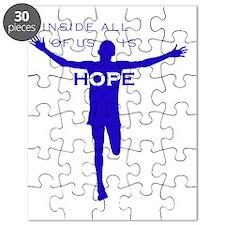 John-cafepress blue-B Puzzle