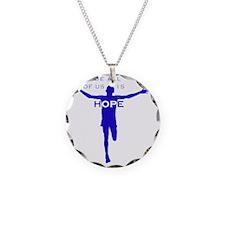 John-cafepress blue-B Necklace Circle Charm