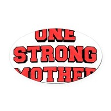 one-strong Oval Car Magnet