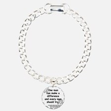 Jackie Difference Quote Bracelet