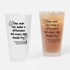 Jackie Difference Quote Drinking Glass