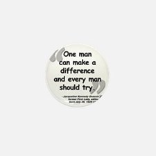 Jackie Difference Quote Mini Button