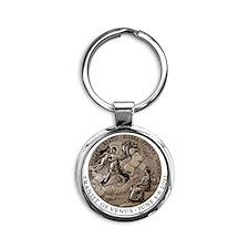 medallion-cafepress Round Keychain