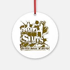 Mud_Slut_Logo Round Ornament