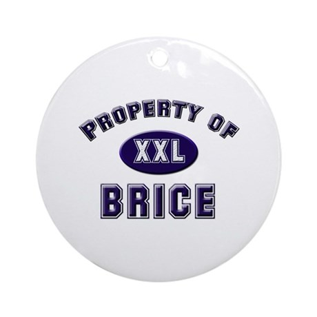Property of brice Ornament (Round)