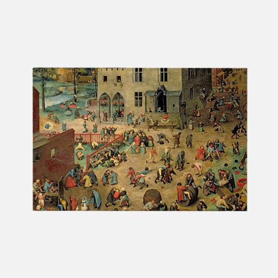 Bruegel Childrens Games Rectangle Magnet