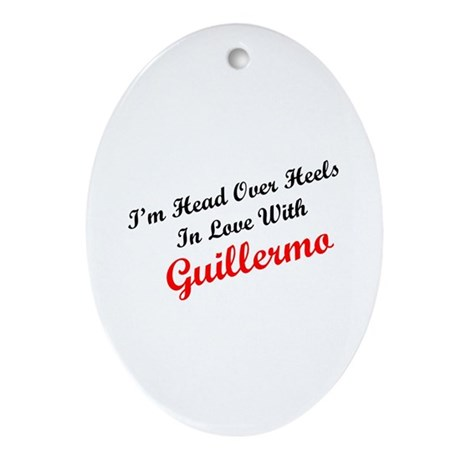 In Love with Guillermo Oval Ornament