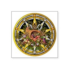 "Mabon Pentacle Square Sticker 3"" x 3"""