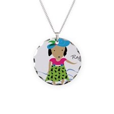girl with hat-Rayna Necklace