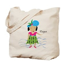 girl with hat-Rayna Tote Bag