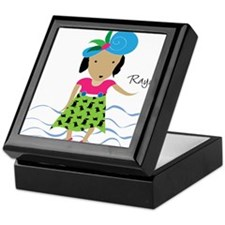 girl with hat-Rayna Keepsake Box