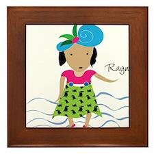 girl with hat-Rayna Framed Tile