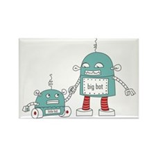 Robot Baby Rectangle Magnet