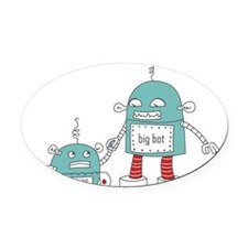 Robot Baby Oval Car Magnet
