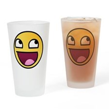 awesome-smiley Drinking Glass